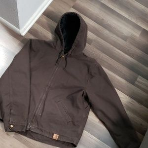 🛠 Brown Carhartt  Thick Hooded Jacket 🛠